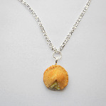 Kawaii Apple Pie Silver Food Chain Necklace