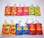 Kitsch Chrisp Packet Food Charm Earrings 1