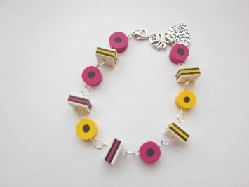 Kitsch Fimo Colourful Liquorice Allsorts Bracelet