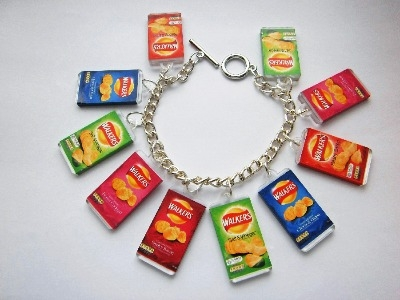Kitsch Junk Food Crisp Packet Charm Bracelet