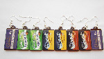 Milk Chocolate Bar Kawaii Plastic Dangle Earrings