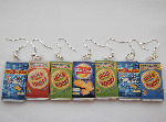 Mini Crisp Packet Earrings - Fake Food Jewellery