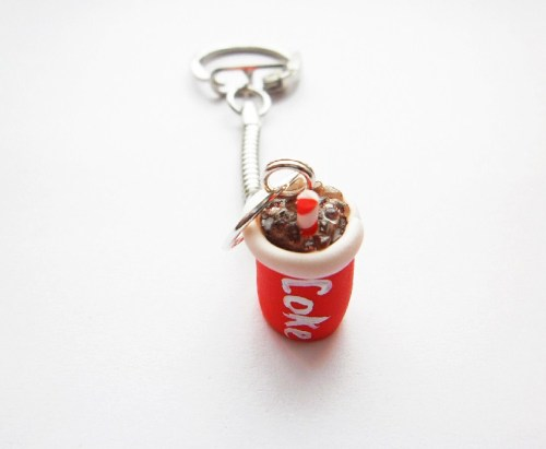 Fimo Coke Keyring
