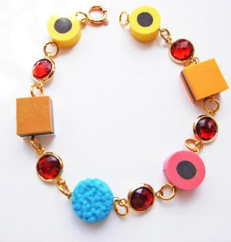 Liquorice Allsorts Gemstone Sweetie Bracelet