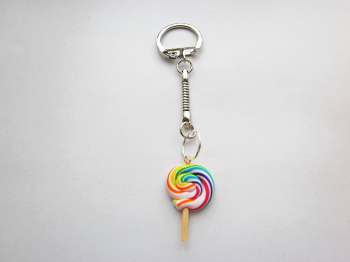 Summer Fruit Swirl Lollipop Keyring