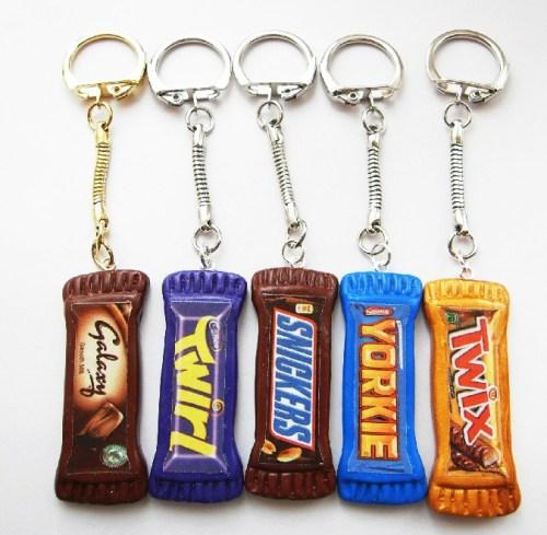 Long Fimo Chocolate Bar Keyring