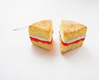 Victoria Sponge Cake Slice Earrings