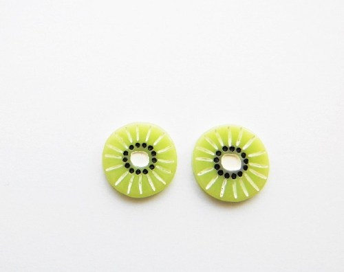 Kiwi Slice Earring Studs