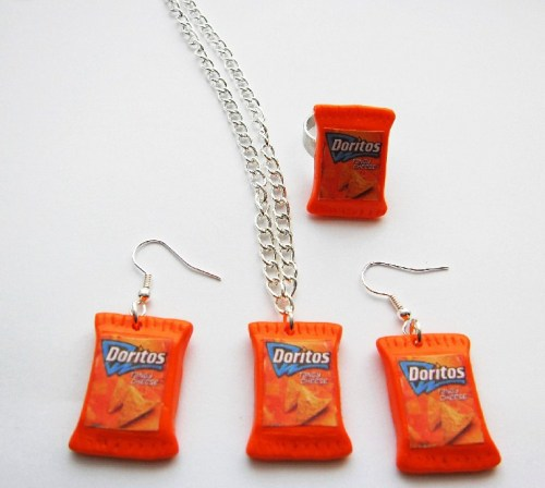Orange Doritos Jewellery Gift set