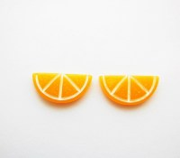Orange Slice Stud Earrings