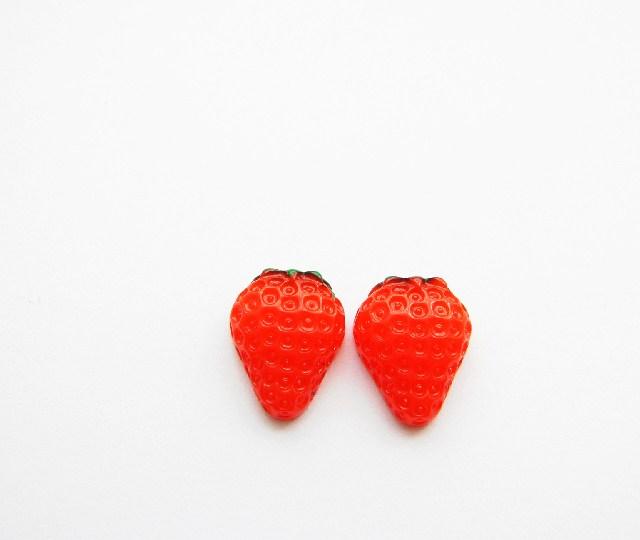 Strawberry Fruit Stud Earrings