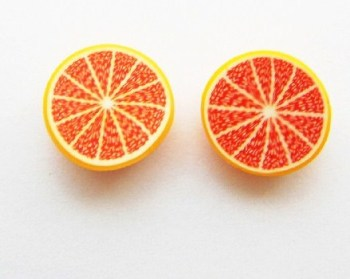 Red Half Sliced Grapefruit Earrings