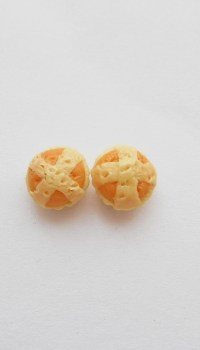 Hot Cross Bun Stud Earrings