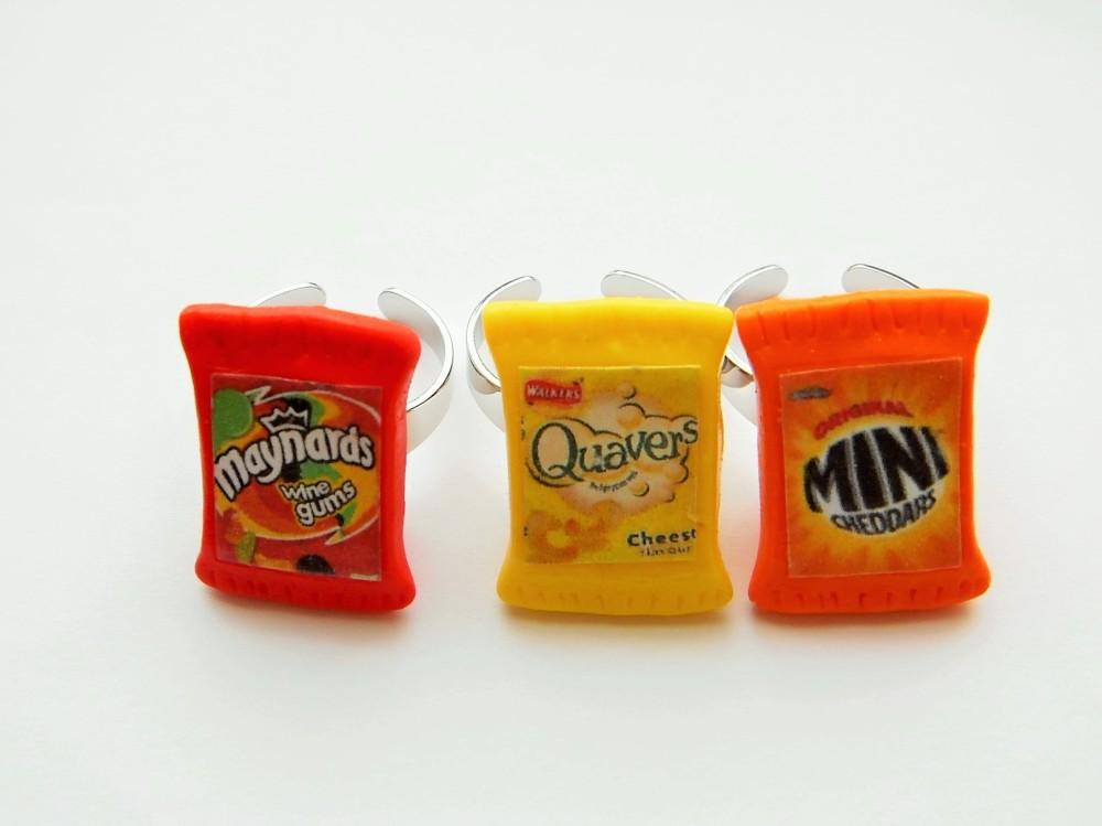 Junk Food Ring Gift Set