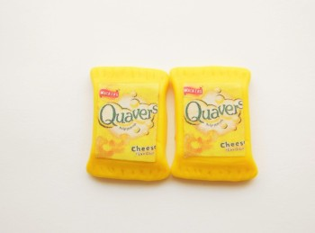 Quaver Crisp Packet Stud Earrings.