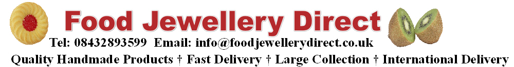 Food Jewellery Direct - Quality Miniature Food And Sweet Jewellery Gifts, site logo.