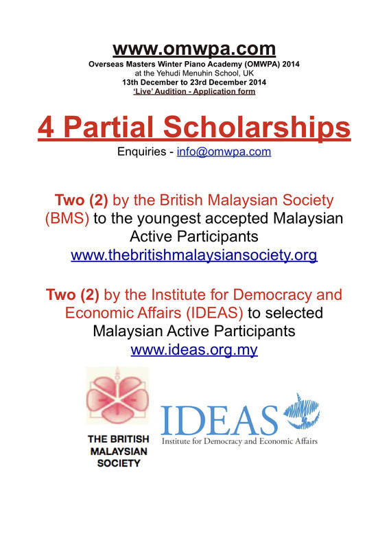 OMWPA 2014 - 4 Partial Scholarships (b)