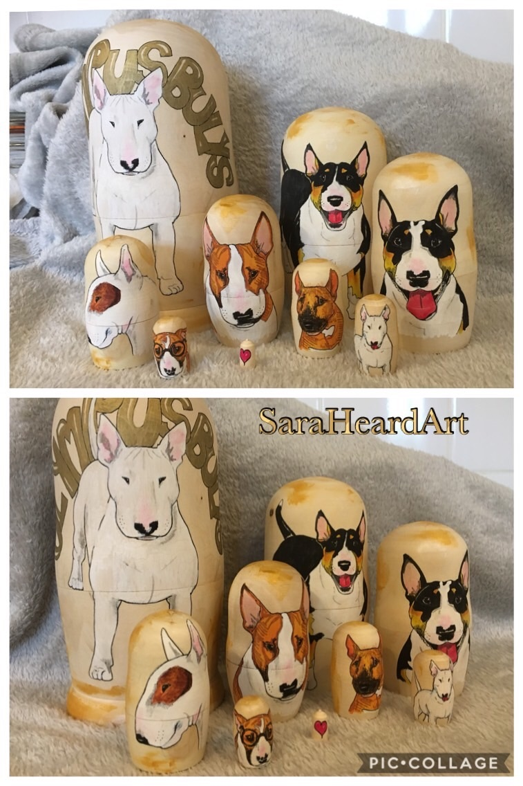 Commission Dog nesting Doll