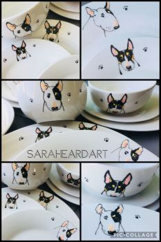 Cartoon style Portrait Dinner Set