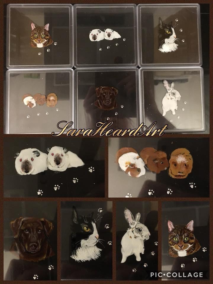 Portrait - Pair of Coasters *Acrylic*