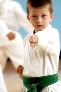 Children Learning Karate
