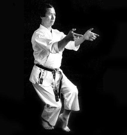 Sensei Keinosuke Enoeda practicing Kata