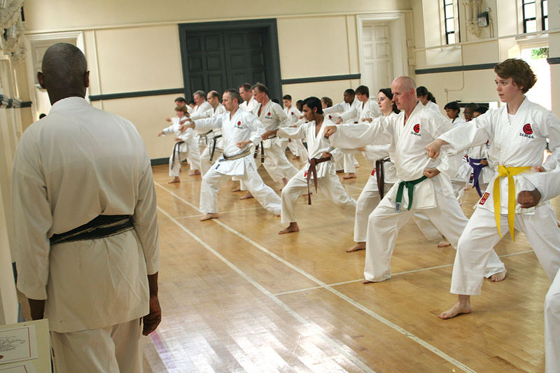 Karate training in Ladywell