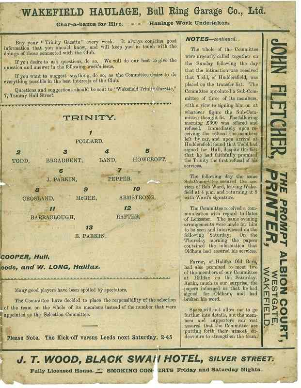 13 Nov 1920 Trinity v York centre page right