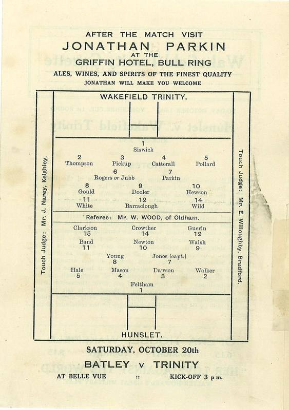 13 Oct 1923 Trinity v Hunslet centre page left