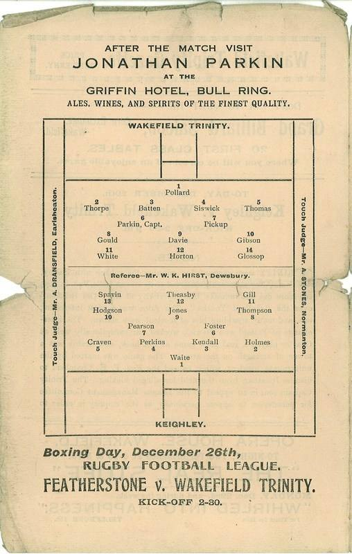 20th Dec 1924 Trinity v Keighley centre left