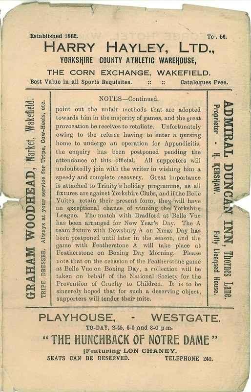 20th Dec 1924 Trinity v Keighley centre right