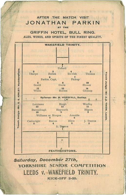 26th Dec 1924 Trinity v Featherstone centre left