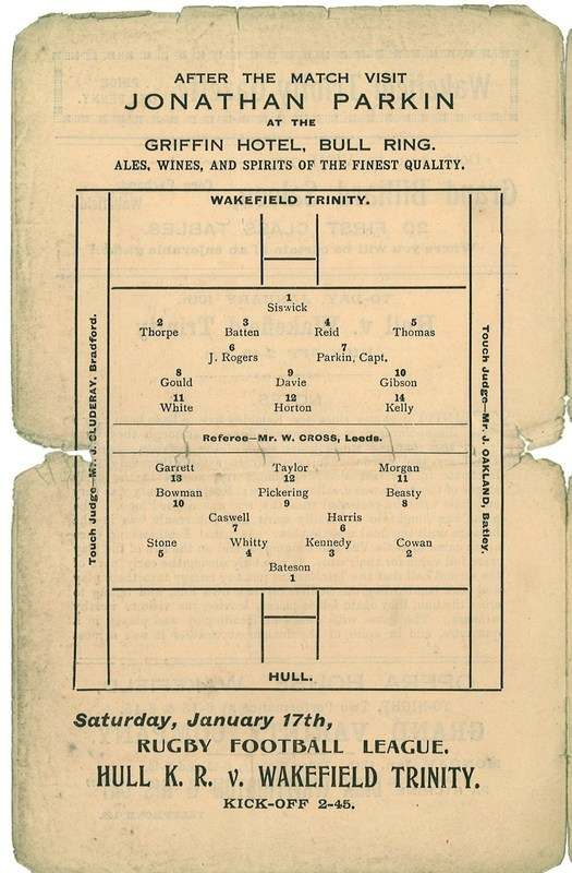 10th Jan 1925 Trinity v Hull centre left