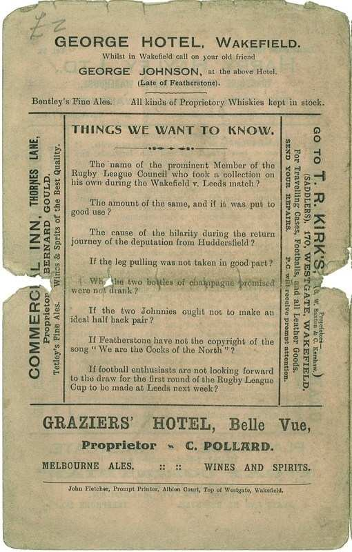 10th Jan 1925 Trinity v Hull back page