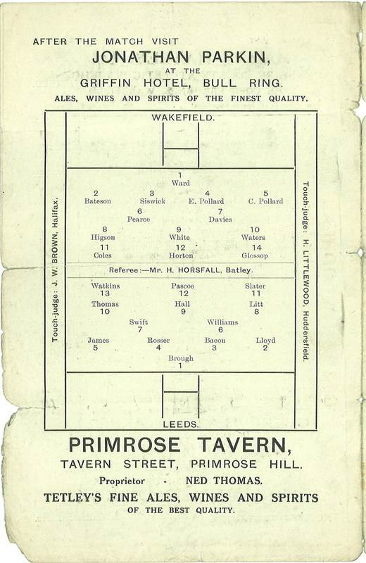 19th March 1927 Trinity v Leeds centre left