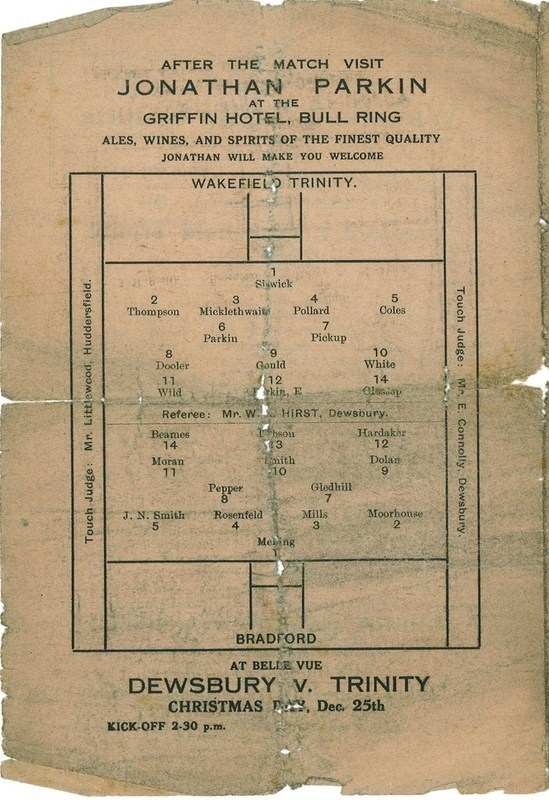 15th Dec 1923 Trinity v Bradford Northern centre left