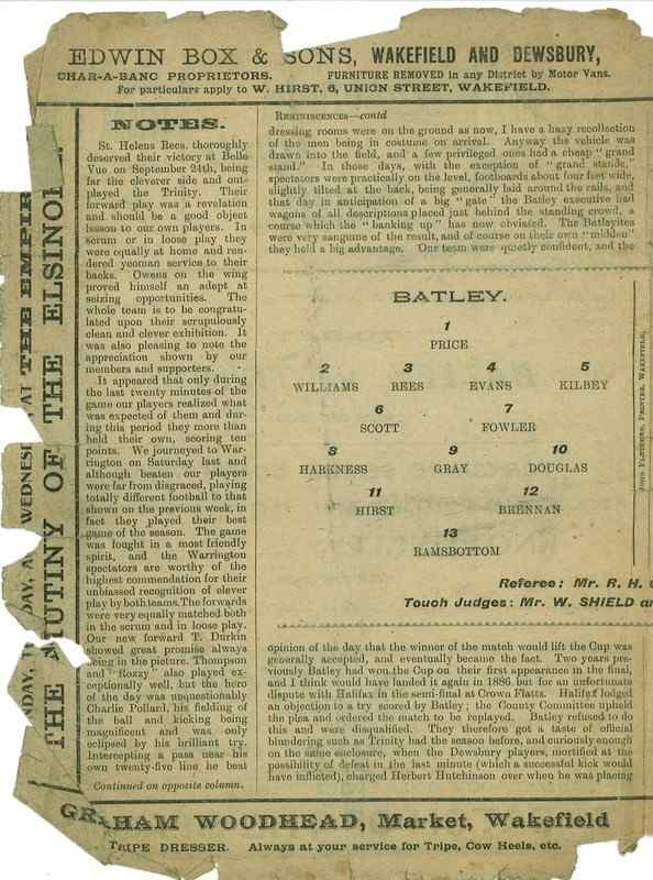 8th October 1921 Trinity v Batley centre left