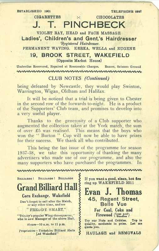 4th May 1938 Wakefield v Newcastle page 3