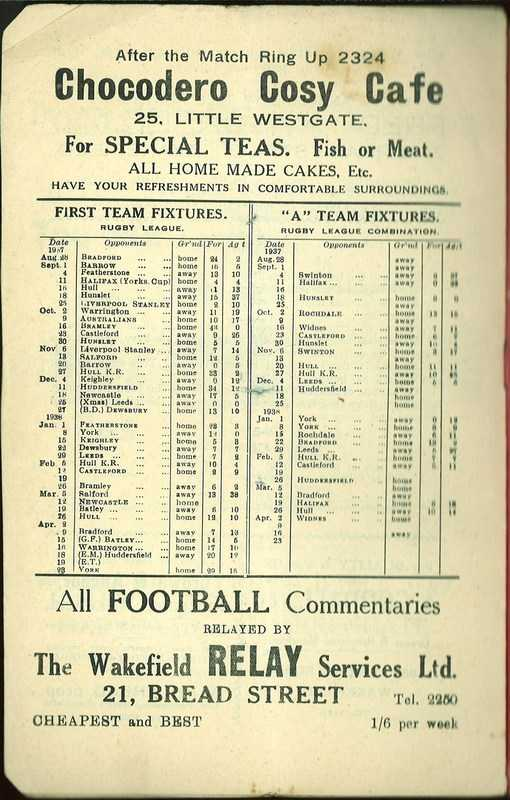 4th May 1938 Wakefield v Newcastle page 12