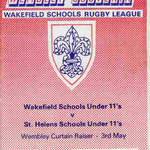 1986 Wakefield Schoolboys Wembley Brochure