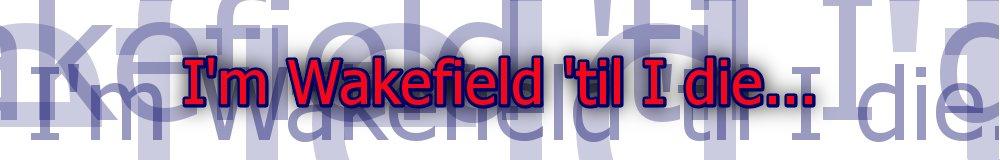 I'm Wakefield till I die..., site logo.
