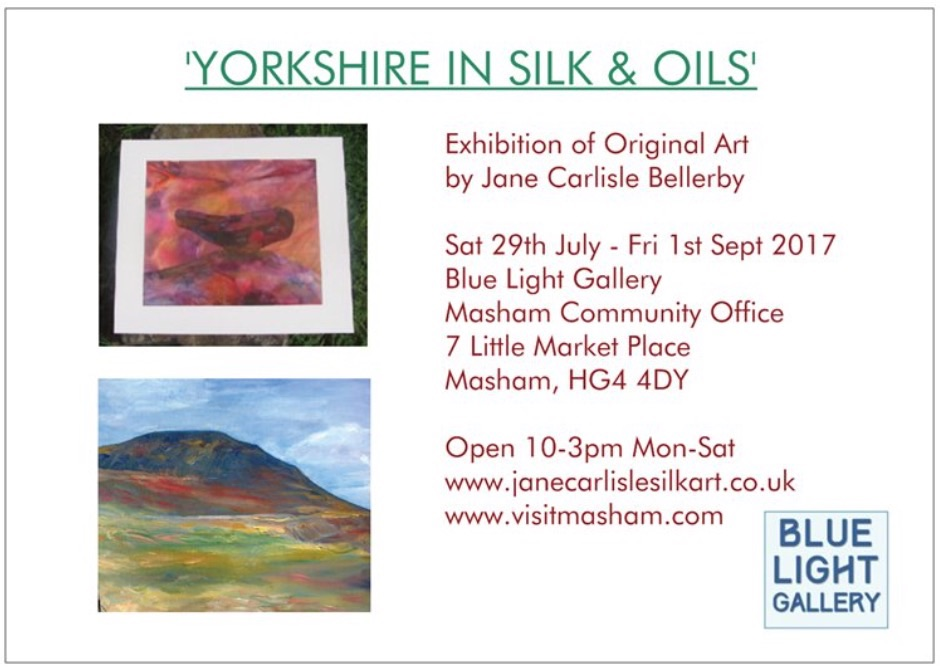 Yorkshire in Silk & Oils Exhibition Flyer 2017