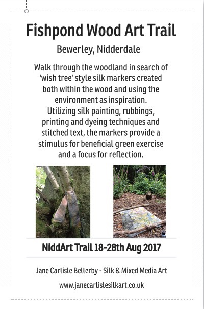Fishpond Wood Art Trail Flyer 2017