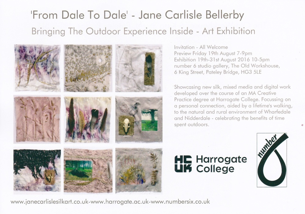 From Dale to Dale Exhibition Flyer 2016