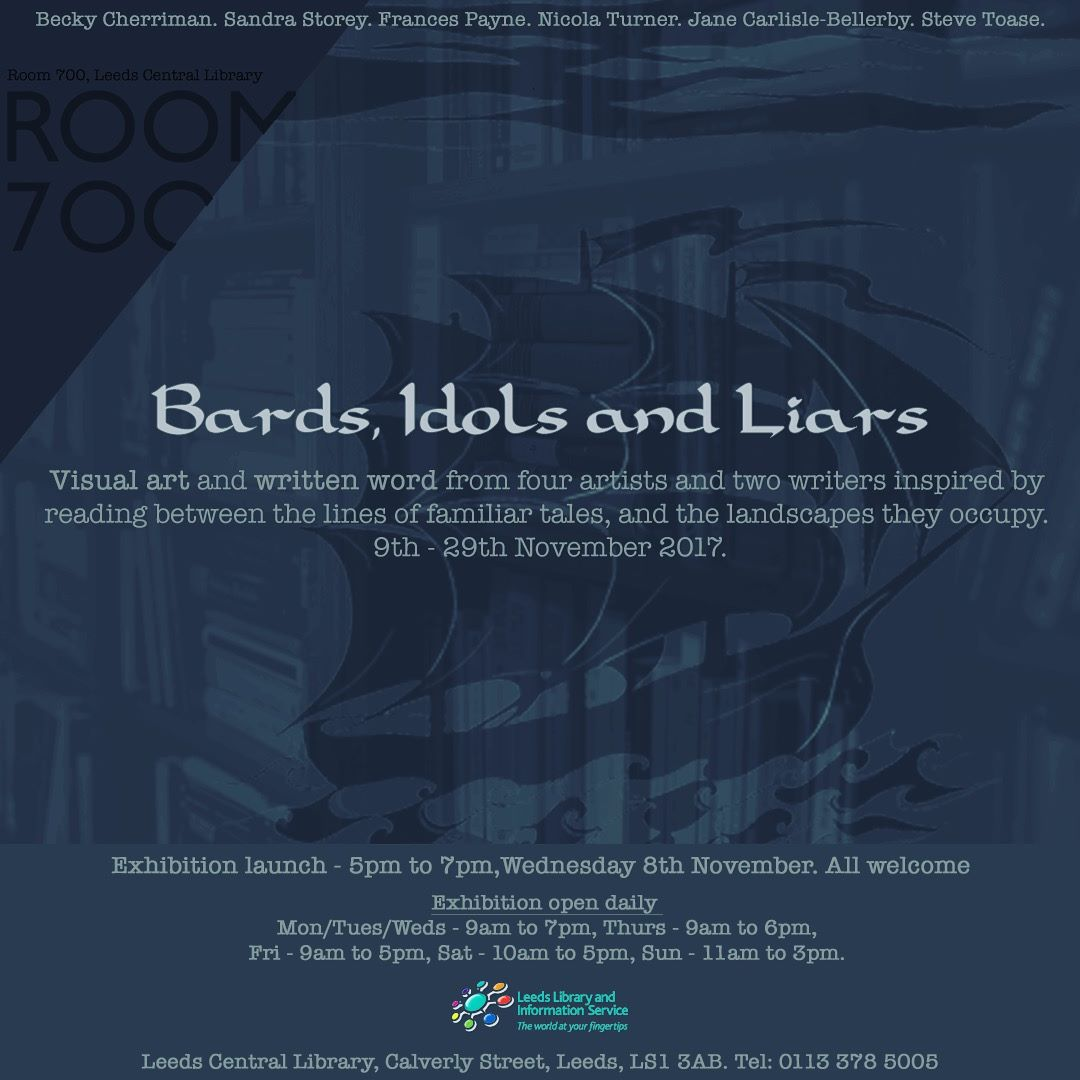 Bards, Idols & Liars Exhibition Flyer 2017