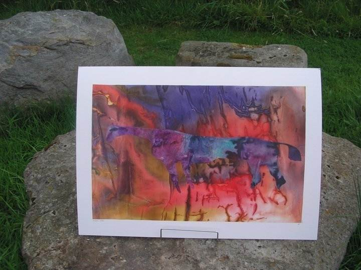 Kilburn Horse Silk Collage