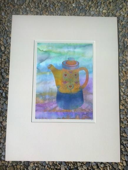 Coffee Pot (Homage to Kaffe Fassett)