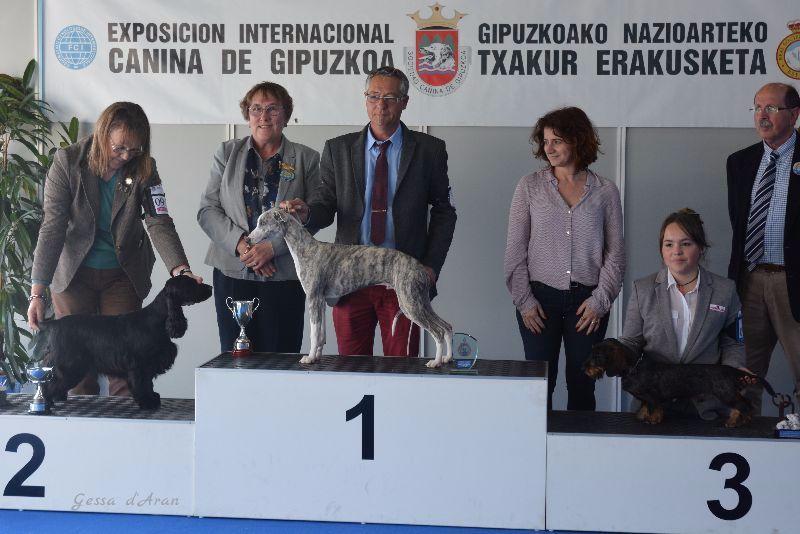 Katie Expo Irún 2016 podium