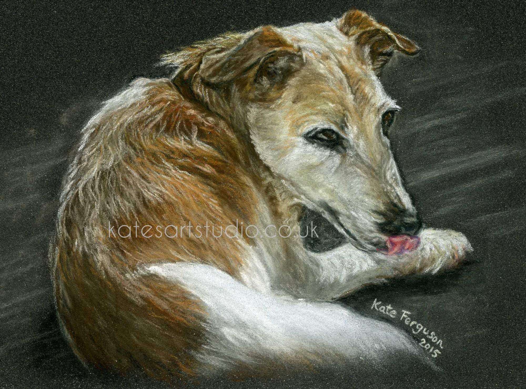 Pastels on pastelcard - Brindley