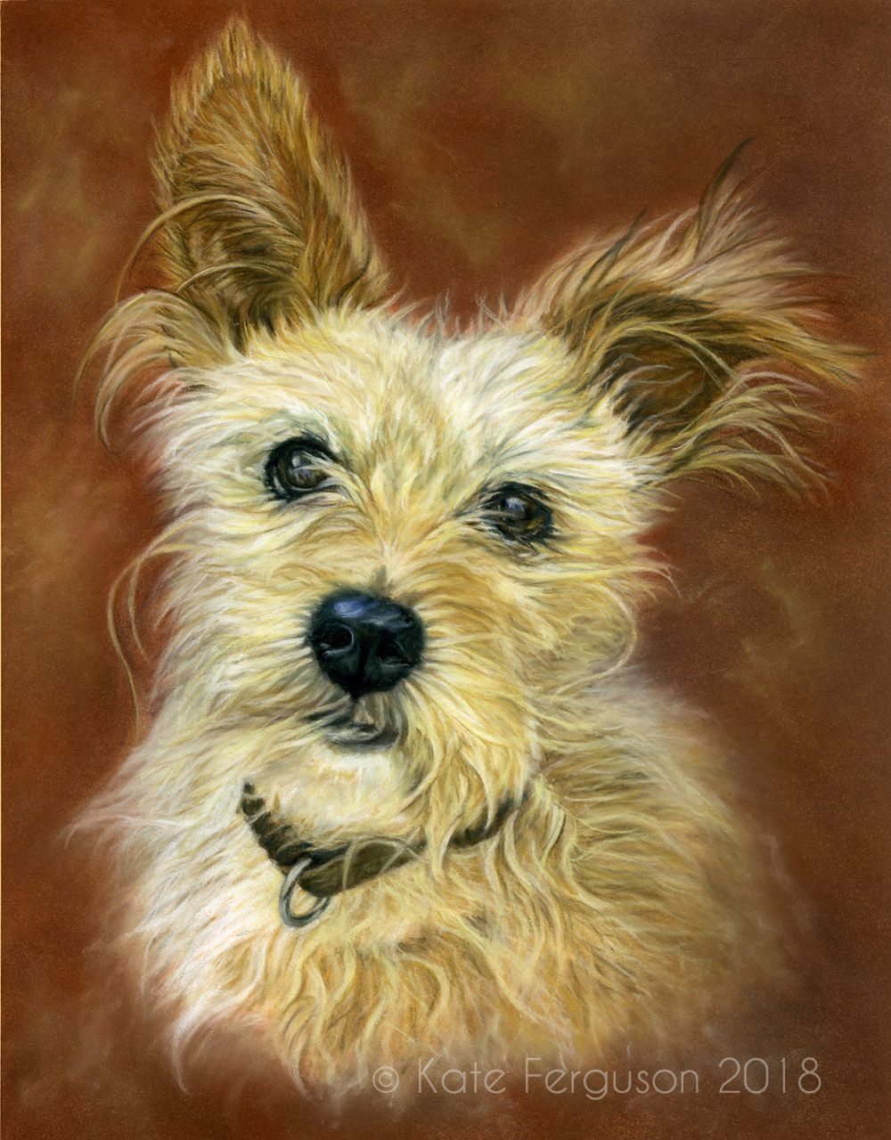 Commission in pastels - Scrappy